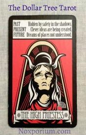 Dollar Tree Tarot: The High Priestess.