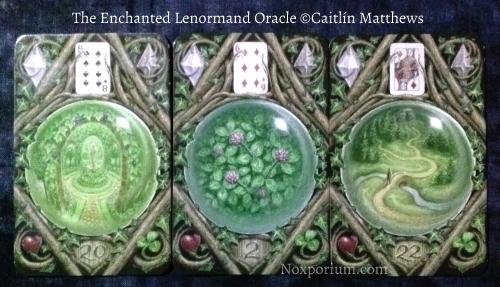 The Enchanted Lenormand Oracle: Garden-20, Clover-2, & Path-22.