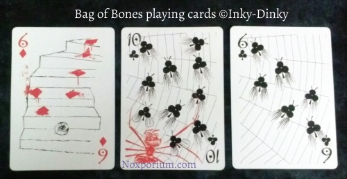 Bag of Bones: 6 of Diamonds, 10 of Clubs, & 6 of Clubs.