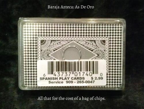 Baraja Azteca: Card Back & Case.