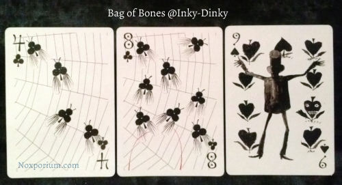 Bag of Bones: 4 of Clubs, 8 of Clubs, & 9 of Spades.