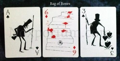 Bag of Bones: Ace of Spades, 6 of Diamonds, & 3 of Spades.