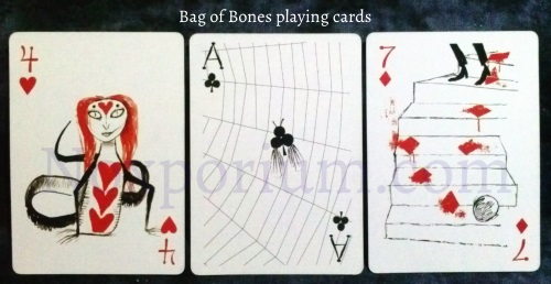Bag of Bones: 4 of Hearts, Ace of Clubs, & 7 of Diamonds.