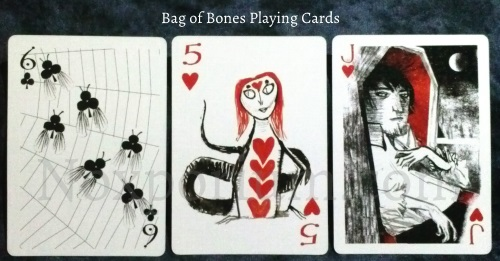 Bag of Bones: 6 of Cups, 5 of Hearts, & Jack of Hearts.