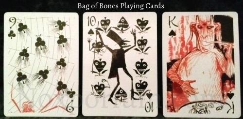 Bag of Bones: 9 of Clubs, 10 of Spades, & King of Spades.