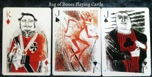 Bag of Bones: King of Diamonds, Jack of Spades, & Jack of Clubs.