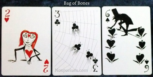 Bag of Bones: 2 of Hearts, 3 of Clubs, & 6 of Spades.