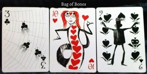 Bag of Bones: 3 of Clubs, 10 of Hearts, & 9 of Spades.