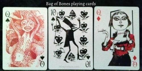 Bag of Bones: Queen of Spades, 10 of Spades, & Queen of Diamonds.