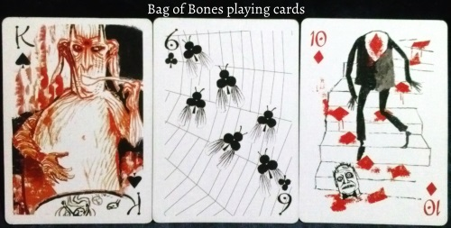 The Bag of Bones: King of Spades, 6 of Clubs, & 10 of Diamonds.