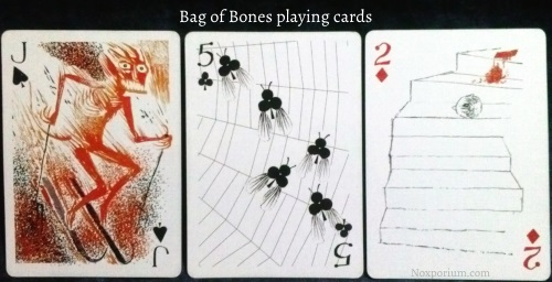 The Bag of Bones: Jack of Spades, 5 of Clubs, & 2 of Diamonds.