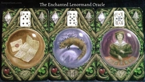 The Enchanted Lenormand Oracle: Letter + Fox + Diviner.