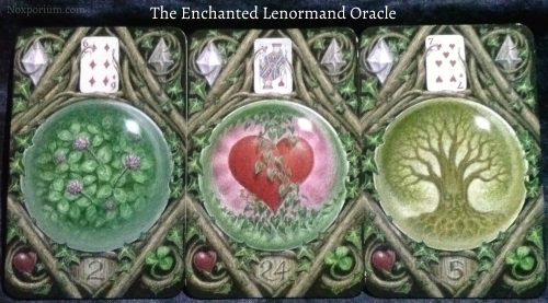 The Enchanted Lenormand Oracle: Clover + Heart + Tree.