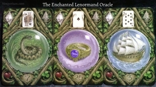 The Enchanted Lenormand Oracle: Snake + Ring + Ship.