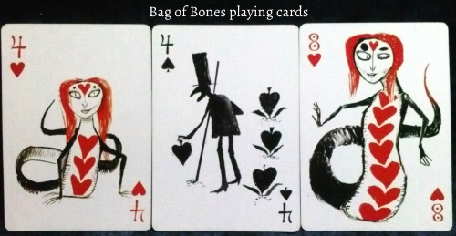 Bag of Bones: 4 of Hearts, 4 of Spades, & 8 of Hearts.