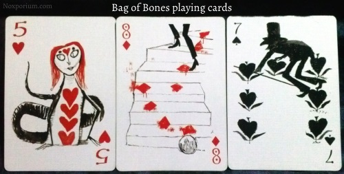 Bag of Bones: 5 of Hearts, 8 of Diamonds, & 7 of Spades.