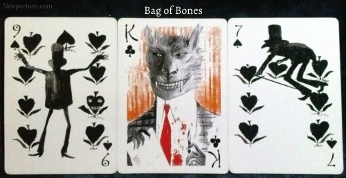 Bag of Bones: 9 of Spades, King of Clubs, & 7 of Spades.