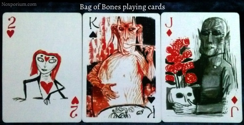 Bag of Bones: 2 of Hearts, King of Spades, & Jack of Diamonds.