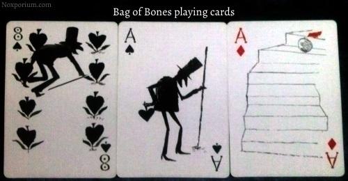 Bag of Bones: 8 of Spades, Ace of Spades, & Ace of Diamonds.