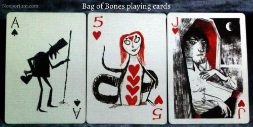 Bag of Bones: Ace of Spades, 5 of Hearts, & Jack of Hearts.
