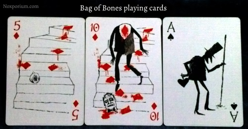 Bag of Bones: 5 of Diamonds, 10 of Diamonds, & Ace of Spades.