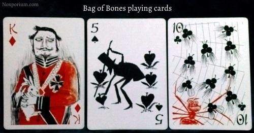 Bag of Bones: King of Diamonds, 5 of Spades, & 10 of Clubs.