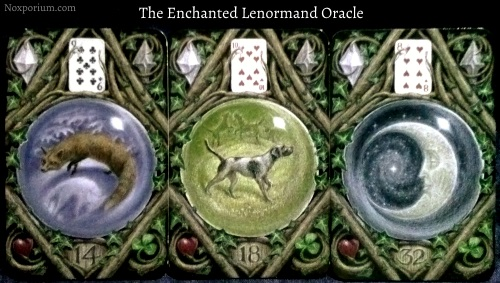 The Enchanted Lenormand Oracle: Fox + Dog + Moon.