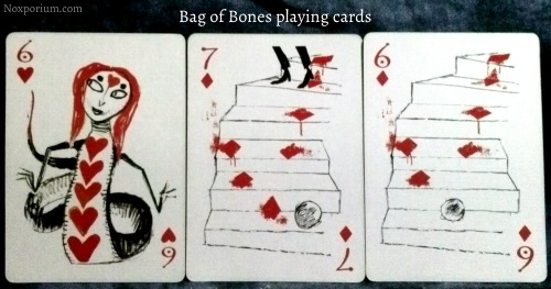 Bag of Bones: 6 of Hearts, 7 of Diamonds, & 6 of Diamonds.