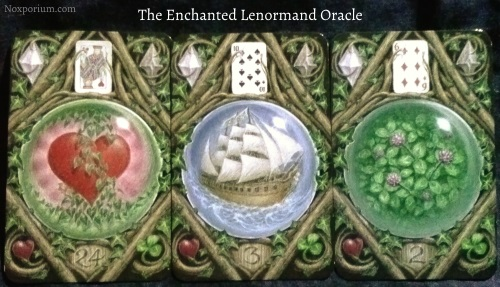 The Enchanted Lenormand Oracle: Heart + Ship + Clover.