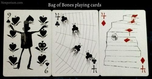 Bag of Bones: 9 of Spades, 4 of Clubs, & 4 of Diamonds.