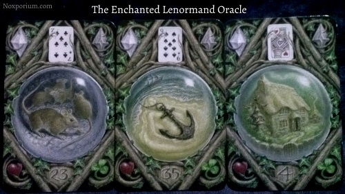 The Enchanted Lenormand Oracle: Mice + Anchor + House.