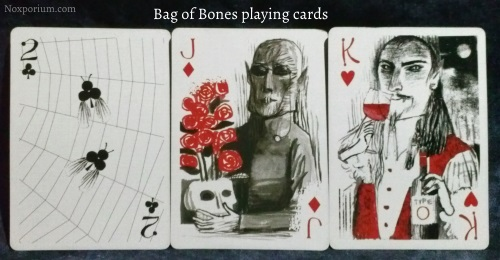 Bag of Bones: 2 of Clubs, Jack of Diamonds, & King of Hearts.
