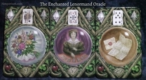 The Enchanted Lenormand Oracle: Bouquet + Diviner + Letter.