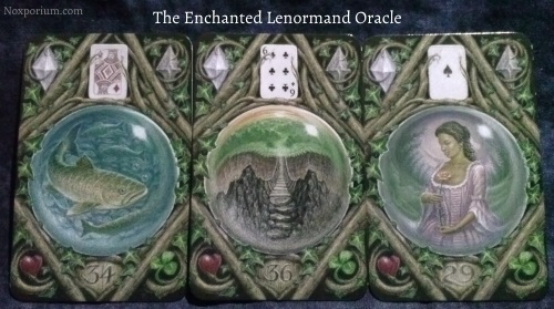 The Enchanted Lenormand Oracle: Fish + Crossing + Woman.