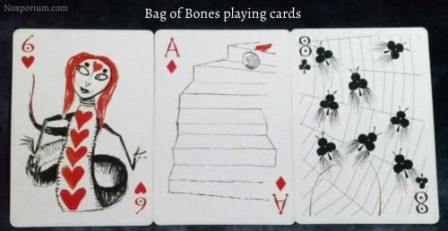 Bag of Bones: 6 of Hearts, Ace of Diamonds, & 8 of Clubs.