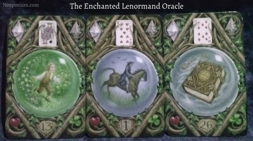 The Enchanted Lenormand Oracle: Child + Rider + Book.