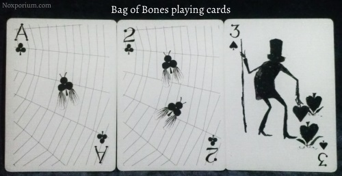 Bag of Bones: Ace of Clubs, 2 of Clubs, & 3 of Spades.