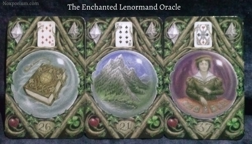 The Enchanted Lenormand Oracle: Book + Mountain + Diviner.