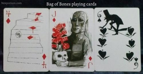 Bag of Bones: 4 of Diamonds, Jack of Diamonds, & 6 of Spades.