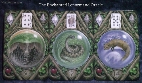 The Enchanted Lenormand Oracle: Crossing + Snake + Fox.