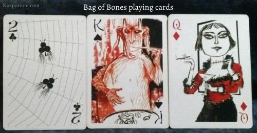 Bag of Bones: 2 of Clubs, King of Spades, & Queen of Diamonds.