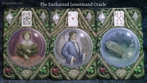 The Enchanted Lenormand Oracle: Diviner + Man + Coffin.