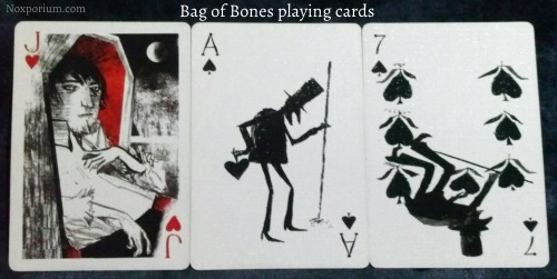 Bag of Bones: Jack of Hearts, Ace of Spades, & 7 of Spades.