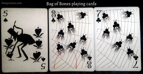 Bag of Bones: 5 of Spades, 8 of Clubs, & 7 of Clubs.