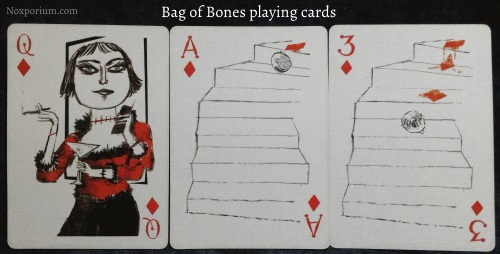 Bag of Bones: Queen of Diamonds, Ace of Diamonds, & 3 of Diamonds.