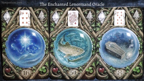 The Enchanted Lenormand Oracle: Star + Fish + Coffin.