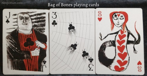 Bag of Bones: Jack of Clubs, 3 of Clubs, & 8 of Hearts.