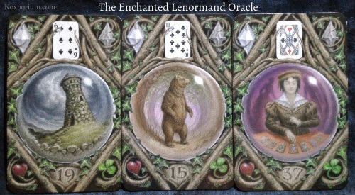 The Enchanted Lenormand Oracle: Tower + Bear + Diviner.