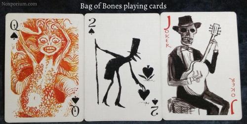 Bag of Bones: Queen of Spades, 2 of Spades, & Joker.