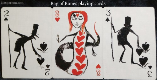 Bag of Bones: 2 of Spades, 8 of Hearts, & 3 of Spades.